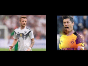 Robert Lewandowski would dominate Marco Reus in a whole different way if he was in Borussia Dortmund.: B.B  EVONIK Robert Lewandowski would dominate Marco Reus in a whole different way if he was in Borussia Dortmund.