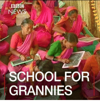 6 MAR: A unique school set up only to educate grandmothers opens in Maharashtra, western India. Aajibaichishala YogendraBangar MotiramDalalCharitableTrust Maharashtra School Grandmothers Education Literacy India BBCShorts BBCNews @BBCNews: B BIC  SCHOOL FOR  GRANNIES 6 MAR: A unique school set up only to educate grandmothers opens in Maharashtra, western India. Aajibaichishala YogendraBangar MotiramDalalCharitableTrust Maharashtra School Grandmothers Education Literacy India BBCShorts BBCNews @BBCNews