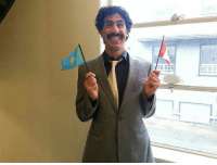 """""""Guy from work pulled off a pretty good Borat yesterday."""": B """"Guy from work pulled off a pretty good Borat yesterday."""""""