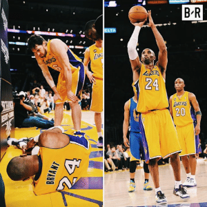 Six years today, Kobe tore his Achilles, then limped to the line and knocked down two free throws.  Mamba was different.: B-R  Aki  24  AKERS  20 Six years today, Kobe tore his Achilles, then limped to the line and knocked down two free throws.  Mamba was different.