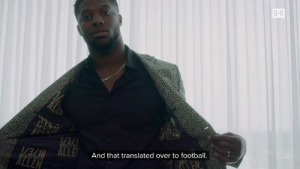 Football, Heart, and Jcpenney: B-R  And that translated over to football  EN Josh Allen credits the birth of his son as the inspiration that tailored him for this moment on draft day, and he's wearing a suit that holds a special place in his heart.  From B/R x M by Michael Strahan, JCPenney