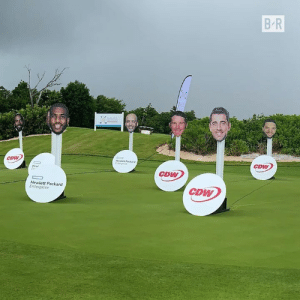 JR Smith, Scottie Pippen and Aaron Rodgers took their talents to the golf course in a Team NBA vs. Team NFL battle for charity ⛳️  ➡️ CDW Corporation: B-R  CDW  Meelett Packand  Etpse  CDW  CDW  Hew  Eet  CDW  Hewlett Packard  Enterprise JR Smith, Scottie Pippen and Aaron Rodgers took their talents to the golf course in a Team NBA vs. Team NFL battle for charity ⛳️  ➡️ CDW Corporation