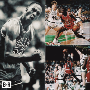 Jordan set the playoff scoring record at 23.  33 years ago today, he dropped 63 on the Celtics without shooting a three: B-R  CELTIC Jordan set the playoff scoring record at 23.  33 years ago today, he dropped 63 on the Celtics without shooting a three