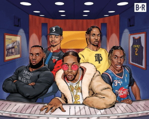 LeBron is the first athlete ever to A&R an album 🎤🏀 #RapOrGoToTheLeague: B R  CHAINZ  341  CE LeBron is the first athlete ever to A&R an album 🎤🏀 #RapOrGoToTheLeague