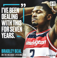 Wizards, Been, and Seven: B-R  IVE BEEN  DEALING I  WITH THIS  FOR SEVEN  YEARS  ashtan  BRADLEY BEA  ON THE WIZARDS' DYSFUNCTION  HIT SHAMS CHARANIA 🤭