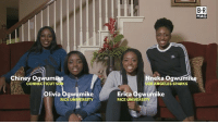 Basketball, Family, and Sports: B R  MAG  Chiney Ogwumike  neka Ogwumik  CONNECTICUT S  LOS ANGELES SPARKS  livia Ogwumike  RICE UNIVERSITY  Erica Ogwumike  RICE UNIVERS The real first family of hoops is the Ogwumike sisters, not the Ball brothers. Get to know basketball royalty BRmag (link in bio) (video credit @Galvanatro)