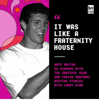 Fraternity, Growing Up, and Nba: b/r  MAG  IT WAS  LIKE A  FRATERNITY  HOUSE  NATE WALTON  ON DINNERS WITH  BEDTIME STORIES  WITH LARRY BIRD  DN  AA  HETSD  SAR  All  WLSRB  AE  0SFSTY  TRE0SR  wETS  LETL  ANAREA  KAU  wNRAML  IGC-  6 TIRO  ED  TH  TE  DDT  ANHNEI  6 ILFH  NOTABw  じ Growing up Walton: Rock stars at dinner, bedtime stories from NBA legends, few rules and open doors BRmag (link in bio)