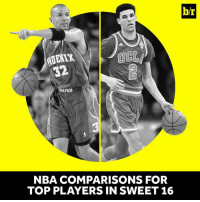 """""""He can dominate a game without scoring.""""  Lonzo's game resembles a former NBA star.  Story: http://ble.ac/2nep7Cf: b/r  NBA COMPARISONS FOR  TOP PLAYERS IN SWEET 16 """"He can dominate a game without scoring.""""  Lonzo's game resembles a former NBA star.  Story: http://ble.ac/2nep7Cf"""