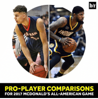 All Star, McDonalds, and Paul George: b/r  PRO PLAYER COMPARISONS  FOR 2017 MCDONALD'S ALL AMERICAN GAME Michael Porter Jr. is a matchup nightmare, similar to All-Star Paul George   More comparisons: https://ble.ac/2nBFtFb
