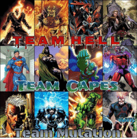 **Team Survival** Choose the Team that will be the last one standing after this conflict. Who do you think survives?  Team HELL Ghost Rider, Etrigan, Spawn, John Constantine Vs Team Capes Superman, Dr. Doom, Martian Manhunter, Magneto Vs Team Mutation Cable(fp), Black Bolt, WWHULK, Deathstorm.   Which team do you choose? -BX #MVDC #teamsurvival: B **Team Survival** Choose the Team that will be the last one standing after this conflict. Who do you think survives?  Team HELL Ghost Rider, Etrigan, Spawn, John Constantine Vs Team Capes Superman, Dr. Doom, Martian Manhunter, Magneto Vs Team Mutation Cable(fp), Black Bolt, WWHULK, Deathstorm.   Which team do you choose? -BX #MVDC #teamsurvival