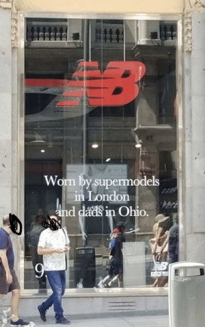Barcelona, New Balance, and London: B  Worn by supermodels  in London  and dads in Ohio. New Balance store front in Barcelona knows what's up