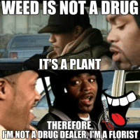 Ahhh shiiiit. @hood_comedy does it again. I think this is clearly one of my hottest memes. 👊😎😝😂 hoodcomedy hood_comedy hoodmemes insta_comedy: WEED IS NOT A DRUG  IT'S A PLANT  THEREFORE,  IM NOT A DRUGDEALERAIM A FLORIST Ahhh shiiiit. @hood_comedy does it again. I think this is clearly one of my hottest memes. 👊😎😝😂 hoodcomedy hood_comedy hoodmemes insta_comedy
