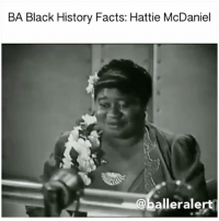 """BA Black History Facts: Hattie McDaniel - blogged by @MsJennyb ⠀⠀⠀⠀⠀⠀⠀⠀⠀ ⠀⠀⠀⠀⠀⠀⠀⠀⠀ Did you know HattieMcDaniel was the first African American to win an Oscar? ⠀⠀⠀⠀⠀⠀⠀⠀⠀ ⠀⠀⠀⠀⠀⠀⠀⠀⠀ McDaniel, a singer-songwriter, actress and comedian all in one, was famously known for her role in the 1939 film, """"Gone with the Wind."""" The role led to McDaniel's first Academy Award for Best Supporting Actress, the first won by an African American. She was also the first African-American to be nominated for acting. ⠀⠀⠀⠀⠀⠀⠀⠀⠀ ⠀⠀⠀⠀⠀⠀⠀⠀⠀ The award did not come without controversy. The 1939 film was an adaptation of the 1936 book written by Margaret Mitchell. According to reports, when the NAACP learned of the adaptation, the organization fought to remove offensive racial slurs from the film and alter the historically inaccurate, provocative scenes. As for McDaniel's character, she played a house slave who disciplined her owner's daughter. However, many believed McDaniel's acceptance of the role perpetuated stereotypes and celebrated the slave system that many civil rights activist were fighting against. ⠀⠀⠀⠀⠀⠀⠀⠀⠀ ⠀⠀⠀⠀⠀⠀⠀⠀⠀ When the film was set to premiere, the studio chose the Loew's Grand Theater in Atlanta, but with the states segregation laws, McDaniel was not able to attend the premiere screening. However, she did attend the film's Hollywood debut thirteen days later, on December 28th. ⠀⠀⠀⠀⠀⠀⠀⠀⠀ ⠀⠀⠀⠀⠀⠀⠀⠀⠀ The next year, at the 12th Academy Awards, McDaniel won the award for Best Supporting Actress. ⠀⠀⠀⠀⠀⠀⠀⠀⠀ ⠀⠀⠀⠀⠀⠀⠀⠀⠀ """"This is one of the happiest moments of my life, and I want to thank each one of you who had a part in selecting me for one of their awards, for your kindness. It has made me feel very, very humble; and I shall always hold it as a beacon for anything that I may be able to do in the future. I sincerely hope I shall always be a credit to my race and to the motion picture industry. My heart is too full to tell you just how I feel, and may I say thank you and God bless you,"""" Mc"""
