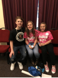 Dank, 🤖, and Samantha: BA  HIM  Byw0  wo had so much fun meeting my new friends Samantha and Callie.  thanks to makeawish for making it possible. ❤️