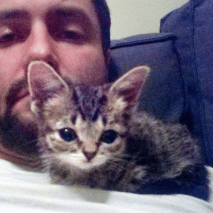 Baby BUB's very first photo after moving in with me.: Baby BUB's very first photo after moving in with me.
