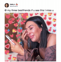 Friends, Memes, and Twitter: baby c  @tbxchristine  @ my three bestfriends if u see this l miss u tag ur best friends 😭 (@tbxchristine on Twitter)