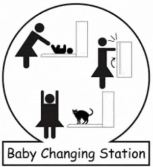 You can't say they're wrong. #funny #puns #technicallytrue #lol #jokes #clever #dumb: Baby Changing Station You can't say they're wrong. #funny #puns #technicallytrue #lol #jokes #clever #dumb