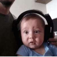 Baby listens to death metal for the first time.: Baby listens to death metal for the first time.