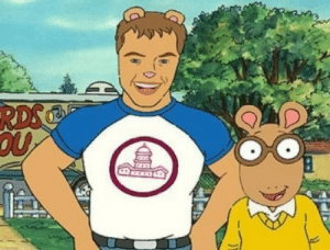 "Arthur, Matt Damon, and Tumblr: babylonian: aerostarmonk:  One time Matt Damon guest starred on Arthur and he looked horrifying.  ""so should we draw Matt as a human or as an aardvark?"" ""yes"""
