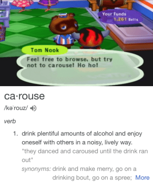 "babylonian:  Tom Nook: ""please dont get blackout drunk in my store"": babylonian:  Tom Nook: ""please dont get blackout drunk in my store"""