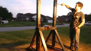 Tumblr, Blog, and Http: babylonian:  weloveshortvideos: Guillotine vs a spray paint can. this caption is so deceptive, this video is so much more than that