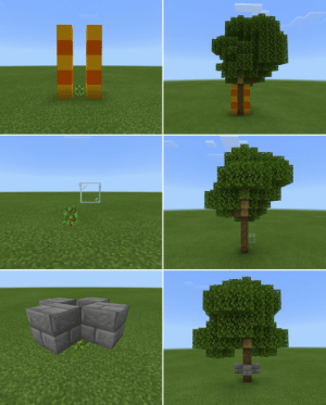 Minecraft, Reddit, and Target: babyzombierights:  javaelemental:   babyzombierights:  javaelemental:  How to get those big trees in Minecraft. From here.  okay yeah but how do i get them to not grow  You can put a block or a string over the sapling to prevent it from growing a big tree. You need to put the block/string 7 or 8 blocks up - then you'll get a regular-sized tree instead of the extra big ones.   not to be dramatic or anything but u just solved 99% of my problems. u deserve an award. thank u
