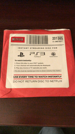 Back in my day we had to use a disc to use Netflix on our consoles!: Back in my day we had to use a disc to use Netflix on our consoles!