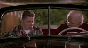Back to the Future Part II (1989) - Old Biff demonstrates the power of the Sports Almanac by predicting that UCLA will win the football game 19-17. UCLA actually did play on November 12, 1955 (the day the scene takes place), and they won 19-17 with a last minute field goal, exactly as described: Back to the Future Part II (1989) - Old Biff demonstrates the power of the Sports Almanac by predicting that UCLA will win the football game 19-17. UCLA actually did play on November 12, 1955 (the day the scene takes place), and they won 19-17 with a last minute field goal, exactly as described