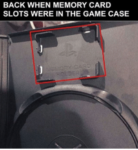 Destiny, Halo, and Instagram: BACK WHEN MEMORY CARD  SLOTS WERE IN THE GAME CASE 😀😀• • 😄Follow 👉@Gamerpost.ig👈 for more content😄• • ❤Double-tap & tag a friend❤ • • callofduty battlefield halo xbox battlefield1 cod mwr iw gamingmemes battlefield4 playstation ps4 gaming pc overwatch destiny memes instagram videogames blackops2 rainbowsixsiege pcgaming xboxone codmemes gta gtav csgo bo2