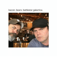 Friends, Memes, and Bears: bacon. bears. battlestar galactica.  ORDER  RDER GOLD tag 3 friends for more 💟
