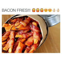 BACON FRIES!!! I like Chinese bacon better than American bacon lol the spicy one is so good wow