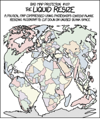 """Bad, Photoshop, and Tumblr: BAD MAP PROJECTION #107  THE LIQUID RESIZE  A PolITCAL COMPRESSED USING PHOTOSHOPちCONTENT-AWARE  RESIZING ALGORITHM TO CUT DOUN ON UNUSED BLANK SPACE <p><a href=""""http://memehumor.tumblr.com/post/155705112353/bad-map-projection-liquid-resize"""" class=""""tumblr_blog"""">memehumor</a>:</p>  <blockquote><p>Bad Map Projection: Liquid Resize</p></blockquote>"""