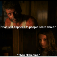 """Bad, Memes, and Shit: """"Bad shit happens to people I care about.""""  IG: Villains  """"Then I'll be fine 💔💔💔 - Via: @Villains"""