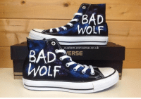 Doctor Who Bad Wolf Converse Shoes.   Happy Bad Wolf Day Everyone!: BAD  WOLF  custom-converse.co.uk  ERSE  WoLt  WOLF Doctor Who Bad Wolf Converse Shoes.   Happy Bad Wolf Day Everyone!