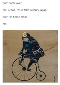 Cakeday memes: reduce, reuse, recycle: bae: come over  me: i can't, i'm in 16th century japan  bae: i'm home alone  me: Cakeday memes: reduce, reuse, recycle