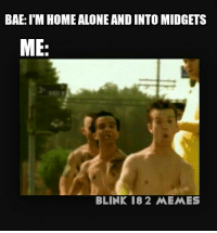When your girl is into the same stuff as you and you call up the local midgets :') - Colton: BAE: ITM HOME ALONE AND INTO MIDGETS  ME  BLINK 182 MEMES When your girl is into the same stuff as you and you call up the local midgets :') - Colton