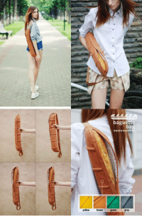 Meirl: baguette  bag  yellow brown green grey Meirl