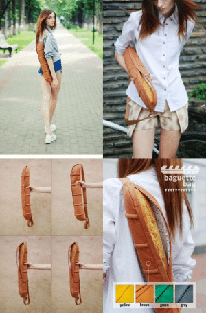 Meirl by yogi89 MORE MEMES: baguette  bag  yellow brown green grey Meirl by yogi89 MORE MEMES