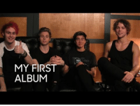 """Target, youtube.com, and Summer: baiN  MY FIRST  ALBUM <p><a href=""""https://www.youtube.com/watch?v=vFyGi8e5WDc"""" target=""""_blank""""><strong>My First Album: 5 Seconds of Summer</strong></a></p> <p>We hung out with the guys after the show to ask them about the first CDs they ever bought!</p>"""