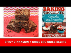 Lol, Tumblr, and Blog: BAKING  HOCOLATE  Cupcakes  and Brownies  IDE  WRITTEN AND PHOTOGRAPHED BY  LISA MALIGA  SPICY CINNAMON CHILE BROWNIES RECIPE lol-coaster:Here it is, a scrumptious spicy brownie recipe that's loaded with warming spices. It's easy to make, you don't need a mixer, and it's a great dessert any time of the year!