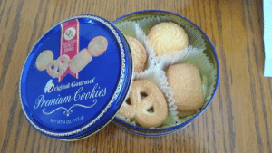 WEIRD: Got a sewing kit over Christmas, but someone had replaced all the sewing supplies with food.: BAKING  SINCE  1998  riginal Gourmet  Premium Cookies  WETWT 4 OZ (113 9) WEIRD: Got a sewing kit over Christmas, but someone had replaced all the sewing supplies with food.