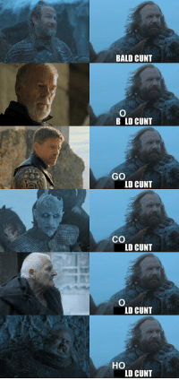 Memes, Cunt, and 🤖: BALD CUNT  B LD CUNT  GO  LD CUNT  Co  LD CUNT  LD CUNT  HO  LD CUNT What Sandro calls other characters https://t.co/RUUeoG0w1c