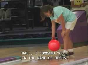 Being Alone, Friends, and Jesus: BALL, I COMMAND YOU  IN THE NAME OF JESUS goblin-sorcerer:  Jesus Camp is a very fun documentary to watch with friends but if you watch it alone you just get scared and angry.