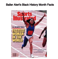 "Baller Alert's Black History Month Facts- blogged by @peachkyss Did you know that FlorenceJoyner was the fastest woman in world? ⠀⠀⠀⠀⠀⠀⠀⠀⠀ ⠀⠀⠀⠀⠀⠀⠀⠀⠀ Florence Joyner also known as ""Flo Jo"" made her Olympic debut in 1984 at the Summer Olympic Games in Los Angeles. Flo Jo won a silver medal for the 200-meter run, and became known for her world record speed, formfitting bodysuits, and you cannot forget her six inch fingernails. Not only was she fast and athletic, but she looked fabulous while doing so. ⠀⠀⠀⠀⠀⠀⠀⠀⠀ ⠀⠀⠀⠀⠀⠀⠀⠀⠀ Flo Jo's Olympic performance brought her all kinds of accolades from being named The Associated Press' ""Female Athlete of the Year"" and Track and Field magazine's ""Athlete of the Year."" Joyner also won the Sullivan Award for the best amateur athlete. ⠀⠀⠀⠀⠀⠀⠀⠀⠀ ⠀⠀⠀⠀⠀⠀⠀⠀⠀ Joyner died unexpectedly of an epileptic seizure on September 21, 1998. She was only 38 years old and was survived by her husband and daughter. More than 30 years later, Florence Joyner still holds the world records in the 100 and 200 meter events with times of 10.49 seconds and 21.34 seconds. bablackhistory FlorenceJoyner fashion trackandfield: Baller Alert's Black History Month Facts  rts  US, OLYMPICTRIALS  HE  WORLD Baller Alert's Black History Month Facts- blogged by @peachkyss Did you know that FlorenceJoyner was the fastest woman in world? ⠀⠀⠀⠀⠀⠀⠀⠀⠀ ⠀⠀⠀⠀⠀⠀⠀⠀⠀ Florence Joyner also known as ""Flo Jo"" made her Olympic debut in 1984 at the Summer Olympic Games in Los Angeles. Flo Jo won a silver medal for the 200-meter run, and became known for her world record speed, formfitting bodysuits, and you cannot forget her six inch fingernails. Not only was she fast and athletic, but she looked fabulous while doing so. ⠀⠀⠀⠀⠀⠀⠀⠀⠀ ⠀⠀⠀⠀⠀⠀⠀⠀⠀ Flo Jo's Olympic performance brought her all kinds of accolades from being named The Associated Press' ""Female Athlete of the Year"" and Track and Field magazine's ""Athlete of the Year."" Joyner also won the Sullivan Award for the best amateur athlete. ⠀⠀⠀⠀⠀⠀⠀⠀⠀ ⠀⠀⠀⠀⠀⠀⠀⠀⠀ Joyner died unexpectedly of an epileptic seizure on September 21, 1998. She was only 38 years old and was survived by her husband and daughter. More than 30 years later, Florence Joyner still holds the world records in the 100 and 200 meter events with times of 10.49 seconds and 21.34 seconds. bablackhistory FlorenceJoyner fashion trackandfield"