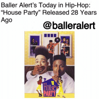 "Baller Alert's Today in Hip-Hop: ""House Party"" Released 28 Years Ago-blogged by @thereal__bee ⠀⠀⠀⠀⠀⠀⠀⠀⠀ ⠀⠀ On March 9, 1990, the cult classic ""House Party"" was released in theaters. Starring the hip-hop duo Kid 'n Play (Christopher ""Kid"" Reid and Christopher ""Play"" Martin), the film became an instant hip-hop classic. ⠀⠀⠀⠀⠀⠀⠀⠀⠀ ⠀⠀ The film also starred Paul Anthony, Bow-Legged Lou, and B-Fine of Full Force, Martin Lawerence, Tisha Campbell-Martin, and A.J. Johnson. Written by Reginald Hudlin, the film was a box office hit grossing $26,385,627 during its run in theaters. ⠀⠀⠀⠀⠀⠀⠀⠀⠀ ⠀⠀ ""House Party"" tells the story of best friends Kid (Reid) and Play (Martin). When Play plans the house party of the year, Kid expects to be in attendance, but his plans go left when he gets into a fight at school and ends up being grounded. Despite the setback, Kid is determined to make it to the party in hopes of seeing his crush, Sydney (Campbell-Martin). ⠀⠀⠀⠀⠀⠀⠀⠀⠀ ⠀⠀ What's your favorite quote from this film?: Baller Alert's Today in Hip-Hop:  ""House Party"" Released 28 Years  Ago  @balleralert  Hou  PARA Baller Alert's Today in Hip-Hop: ""House Party"" Released 28 Years Ago-blogged by @thereal__bee ⠀⠀⠀⠀⠀⠀⠀⠀⠀ ⠀⠀ On March 9, 1990, the cult classic ""House Party"" was released in theaters. Starring the hip-hop duo Kid 'n Play (Christopher ""Kid"" Reid and Christopher ""Play"" Martin), the film became an instant hip-hop classic. ⠀⠀⠀⠀⠀⠀⠀⠀⠀ ⠀⠀ The film also starred Paul Anthony, Bow-Legged Lou, and B-Fine of Full Force, Martin Lawerence, Tisha Campbell-Martin, and A.J. Johnson. Written by Reginald Hudlin, the film was a box office hit grossing $26,385,627 during its run in theaters. ⠀⠀⠀⠀⠀⠀⠀⠀⠀ ⠀⠀ ""House Party"" tells the story of best friends Kid (Reid) and Play (Martin). When Play plans the house party of the year, Kid expects to be in attendance, but his plans go left when he gets into a fight at school and ends up being grounded. Despite the setback, Kid is determined to make it to the party in hopes of seeing his crush, Sydney (Campbell-Martin). ⠀⠀⠀⠀⠀⠀⠀⠀⠀ ⠀⠀ What's your favorite quote from this film?"