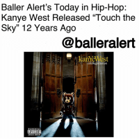 "Baller Alert's Today in Hip-Hop: Kanye West Released ""Touch the Sky"" 12 Years Ago-blogged by @thereal__bee ⠀⠀⠀⠀⠀⠀⠀⠀⠀ ⠀⠀ 12 years ago today, Kanye West released ""Touch the Sky"" from his second album, 'Late Registration'. The song features another Chicago native, Lupe Fiasco, and production by Just Blaze. ⠀⠀⠀⠀⠀⠀⠀⠀⠀ ⠀⠀ Sampling Chicago icon Curtis Mayfield's song ""Move On Up,"" the single was a feel good track that captured both West and Fiasco's cocky swagger. The single also had memorable video match. ⠀⠀⠀⠀⠀⠀⠀⠀⠀ ⠀⠀ Featuring Nia Long, Pamela Anderson, Tracee Ellis Ross, and the Booker T. Washington High School Marching Band of Houston, Texas, the video was a well thought out and executed body of work. The production cost for the video was approximately $1 million, making the video one of the top 25 most expensive music videos of all time.: Baller Alert's Today in Hip-Hop:  Kanye West Released ""Touch the  Sky"" 12 Years Ago  @balleralert  laTeRegistration  ADVISORY  IPLICIT CONTENT Baller Alert's Today in Hip-Hop: Kanye West Released ""Touch the Sky"" 12 Years Ago-blogged by @thereal__bee ⠀⠀⠀⠀⠀⠀⠀⠀⠀ ⠀⠀ 12 years ago today, Kanye West released ""Touch the Sky"" from his second album, 'Late Registration'. The song features another Chicago native, Lupe Fiasco, and production by Just Blaze. ⠀⠀⠀⠀⠀⠀⠀⠀⠀ ⠀⠀ Sampling Chicago icon Curtis Mayfield's song ""Move On Up,"" the single was a feel good track that captured both West and Fiasco's cocky swagger. The single also had memorable video match. ⠀⠀⠀⠀⠀⠀⠀⠀⠀ ⠀⠀ Featuring Nia Long, Pamela Anderson, Tracee Ellis Ross, and the Booker T. Washington High School Marching Band of Houston, Texas, the video was a well thought out and executed body of work. The production cost for the video was approximately $1 million, making the video one of the top 25 most expensive music videos of all time."