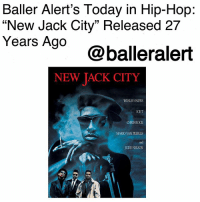 "Baller Alert's Today in Hip-Hop: ""New Jack City"" Released 27 Years Ago-blogged by @thereal__bee (Swipe) ⠀⠀⠀⠀⠀⠀⠀⠀⠀ ⠀⠀ 27 years ago, ""New Jack City,"" written by Thomas Lee Wright and directed by Mario Van Peebles, was released in theaters. ⠀⠀⠀⠀⠀⠀⠀⠀⠀ ⠀⠀ Starring Wesley Snipes, Ice-T, Allen Payne, and Chris Rock and filmed with a budget of $8 Million, the film managed to gross almost $48 million, making it the highest-grossing independent film of 1991. ⠀⠀⠀⠀⠀⠀⠀⠀⠀ ⠀⠀ ""New Jack City,"" tells the story of Nino Brown (Wesley Snipes), a leader of a New York drug empire, and his clique known as the Cash Money Brothers. As a heartless leader, the drug operation quickly becomes a multimillion-dollar empire, attracting the attention of two cops: Scotty (Ice-T) and Nick (Judd Nelson), who are set on shutting the operation down. ⠀⠀⠀⠀⠀⠀⠀⠀⠀ ⠀⠀ What's your favorite scene from this film?: Baller Alert's Today in Hip-Hop:  ""New Jack City"" Released 27  Years Ago  @balleralert  NEW TACK CITY  WESLEY SNIPES  ICET  CHRIS ROCK  MARIO VAN PEEBLES  and  JUDD NELSON Baller Alert's Today in Hip-Hop: ""New Jack City"" Released 27 Years Ago-blogged by @thereal__bee (Swipe) ⠀⠀⠀⠀⠀⠀⠀⠀⠀ ⠀⠀ 27 years ago, ""New Jack City,"" written by Thomas Lee Wright and directed by Mario Van Peebles, was released in theaters. ⠀⠀⠀⠀⠀⠀⠀⠀⠀ ⠀⠀ Starring Wesley Snipes, Ice-T, Allen Payne, and Chris Rock and filmed with a budget of $8 Million, the film managed to gross almost $48 million, making it the highest-grossing independent film of 1991. ⠀⠀⠀⠀⠀⠀⠀⠀⠀ ⠀⠀ ""New Jack City,"" tells the story of Nino Brown (Wesley Snipes), a leader of a New York drug empire, and his clique known as the Cash Money Brothers. As a heartless leader, the drug operation quickly becomes a multimillion-dollar empire, attracting the attention of two cops: Scotty (Ice-T) and Nick (Judd Nelson), who are set on shutting the operation down. ⠀⠀⠀⠀⠀⠀⠀⠀⠀ ⠀⠀ What's your favorite scene from this film?"