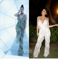 Baller Alert, Kylie Jenner, and Memes: Baller Alert's Who Wore It Better: KylieJenner vs. Rihanna Wearing Dollshousefashion Lanna Cami Fringe Jumpsuit - blogged by- @peachkyss ⠀⠀⠀⠀⠀⠀⠀ ⠀⠀⠀⠀⠀⠀⠀ There is nothing wrong with a friendly fashion battle among the celebs. There are many celebs that have been seen out and about in some of the same haute pieces. The pieces are possibly the hottest and trendiest item in Hollywood. In today's showcase of Baller Alert's Who Wore It Better, we have Kylie Jenner and Rihanna wearing The Dolls House Fashion Lanna Cami Fringe Jumpsuit. ⠀⠀⠀⠀⠀⠀⠀ ⠀⠀⠀⠀⠀⠀⠀ The Badgal herself wore the jumpsuit to the 2016 MTV VMAs. She looked absolutely stunning from head to toe. The color of the jumpsuit was the perfect choice of the evening. ⠀⠀⠀⠀⠀⠀⠀ ⠀⠀⠀⠀⠀⠀⠀ Kylie Jenner was spotted wearing the jumpsuit while posing for the 'Gram. Kylie opted for the white jumpsuit and a slick back ponytail. I'm going to rock with the badgal on this one. The color and the bun was perfect for me. Who do you think wore the jumpsuit better: Kylie vs. Rihanna?