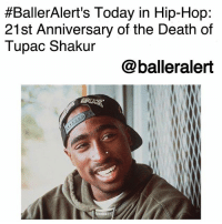 America, Growing Up, and Head:  #BallerAlert's Today in Hip-Hop:  21st Anniversary of the Death of  Tupac Shakur  @balleralert BallerAlert's Today in Hip-Hop: 21st Anniversary of the Death of Tupac Shakur-blogged by @thereal__bee ⠀⠀⠀ ⠀⠀⠀⠀⠀⠀⠀ ⠀⠀⠀⠀⠀⠀⠀ 21 years ago today, the world lost the rap icon TupacShakur. Shakur was born Lesane Parish Crooks on June 16, 1971 in East Harlem, New York. ⠀⠀⠀ ⠀⠀⠀⠀⠀⠀⠀ ⠀⠀⠀⠀⠀⠀⠀ ⠀⠀⠀⠀⠀⠀⠀ ⠀⠀⠀⠀⠀⠀⠀ He got his start at a young age as a background dancer for Digital Underground, before starting his own rap career in 1991. His debut album, '2Pacalypse Now', was an instant success ranking in at 13 on Billboard's Top R&B-Hip-Hop Albums chart. ⠀⠀⠀ ⠀⠀⠀⠀⠀⠀⠀ ⠀⠀⠀⠀⠀⠀⠀ ⠀⠀⠀⠀⠀⠀⠀ By the time his second album arrived in February of 1993, Pac had become widely recognized for not only his extraordinary lyricism, but also his ability to speak freely about issues affecting the urban youth. ⠀⠀⠀ ⠀⠀⠀⠀⠀⠀⠀ ⠀⠀⠀⠀⠀⠀⠀ With songs like 'Brenda's Got A Baby' and 'Keep Ya Head Up', Pac shows us the sometimes ugly truth of growing up poor in America, and encourages us to overcome it. ⠀⠀⠀ Right before his death, Shakur signed to DeathRow Records where he released music like 'California Love' and his fourth album, 'All Eyez On Me'. ⠀⠀⠀ ⠀⠀⠀⠀⠀⠀⠀ ⠀⠀⠀⠀⠀⠀⠀ On September 7, 1996, Shakur was shot in Las Vegas, Nevada. He died Sept. 13 while in the intensive care unit from internal bleeding. ⠀⠀⠀ ⠀⠀⠀⠀⠀⠀⠀ ⠀⠀⠀⠀⠀⠀⠀ Through his music and films, Tupac remains a legendary and unparalleled artist of his time. His impact on the music industry will forever live on through his work.