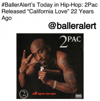 "Anaconda, Billboard, and Dr. Dre:  #BallerAlert's Today in Hip-Hop: 2Pac  Released ""California Love"" 22 Years  Ago  @balleralert  2PAC  all eyez on me BallerAlert's Today in Hip-Hop: 2Pac Released ""California Love"" 22 Years Ago-blogged by @thereal__bee ⠀⠀⠀⠀⠀⠀⠀⠀⠀ ⠀⠀ 22 years ago today, 2Pac released his single ""California Love"" featuring Dr. Dre and Roger Troutman. ⠀⠀⠀⠀⠀⠀⠀⠀⠀ ⠀⠀ After being released from prison in 1995, the single was dubbed as 2Pac's comeback. It was also his first single as a Death Row Records artist. ⠀⠀⠀⠀⠀⠀⠀⠀⠀ ⠀⠀ To this day, the song remains a classic and is a gangsta ode to the West Coast that both 2Pac and Dre loved. ⠀⠀⠀⠀⠀⠀⠀⠀⠀ ⠀⠀ ""California Love"" was Pac's most successful single, reaching number one on the Billboard Hot 100 and remaining there for two weeks. The song even won Pac a posthumous Grammy Award for the Best Rap Solo Performance and Best Rap Performance by a Duo or Group (with Dr. Dre and Roger Troutman)."